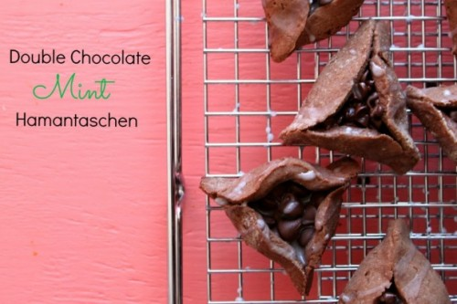 double chocolate mint hamantaschen