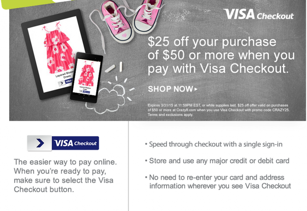 Visa Checkout Crazy8