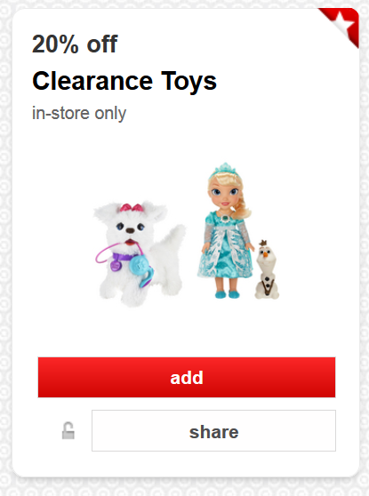 20 off clearance toys at target cartwheel