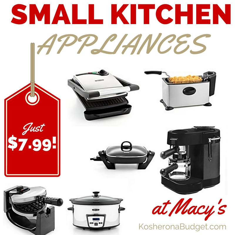 Small Kitchen Appliances at Macy's only $7.99
