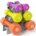 HUGE PRICE DROP on Tone Fitness Neoprene Dumbbell Set with Rack – 3, 5 and 8-LB Weights