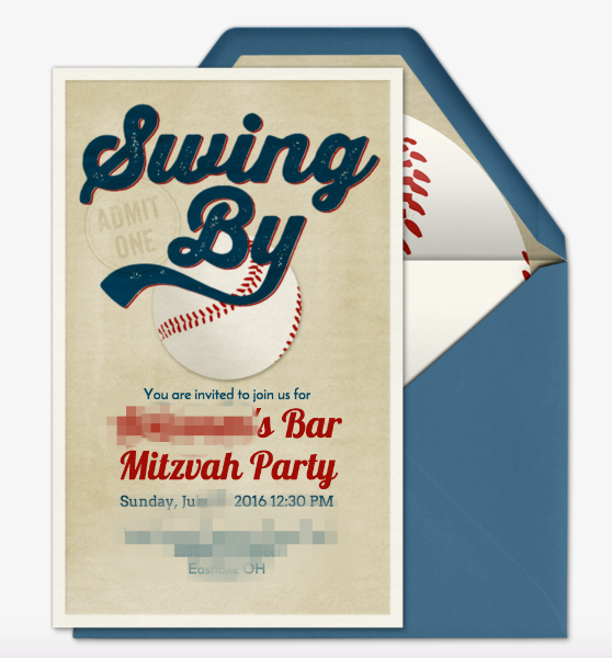 Bar Mitzvah Party Invite