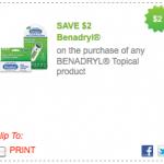 New $2/1 Benadryl Coupon = $.29 at Target or Walmart