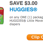 New $3 Off Coupon for Huggies Little Movers Slip-On Diapers