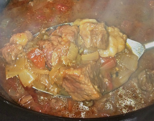 In the Slow Cooker: Mediterranean Beef Ragout via KosheronaBudget.com