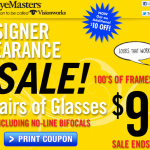 Need New Glasses? Amazing Deal at Eye Master / Vision Works (2 Pairs for $89)