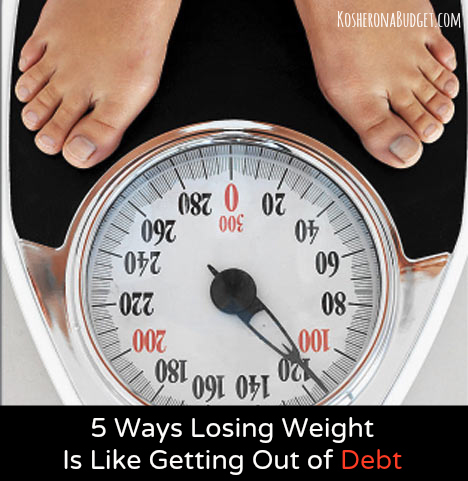 5 Ways Losing Weight Is Like Getting Out of Debt via KosheronaBudget.com