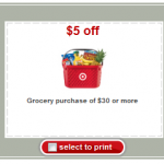 Target Grocery Coupon: Save $5 off $30