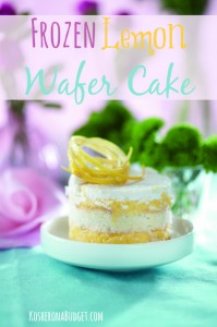 Frozen Lemon Wafer Cake (Kosher for Passover and Gluten-Free)
