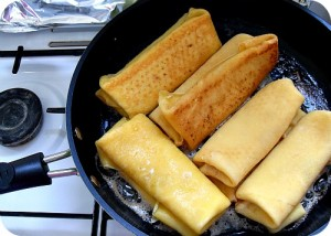 Sweet Cheese Blintzes for Passover