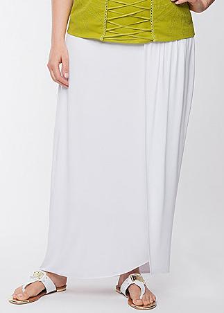 Lane Bryant White Skirt