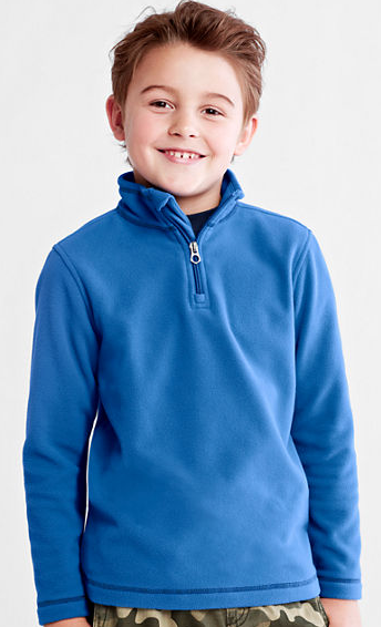Boys Pullover Half Zip Fleece
