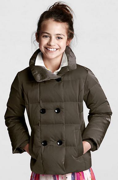 Girls Puffer Pea Coat