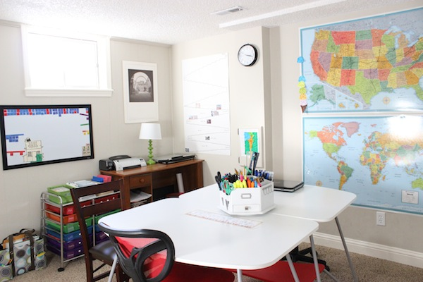 Homeschool Room Tour- View from door