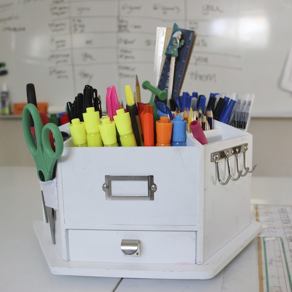 Homeschool Room Tour: Supply Caddy
