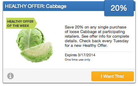 Cabbage SavingStar Offer