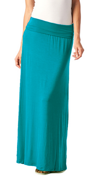 Tag Under Solid Maxi Skirt