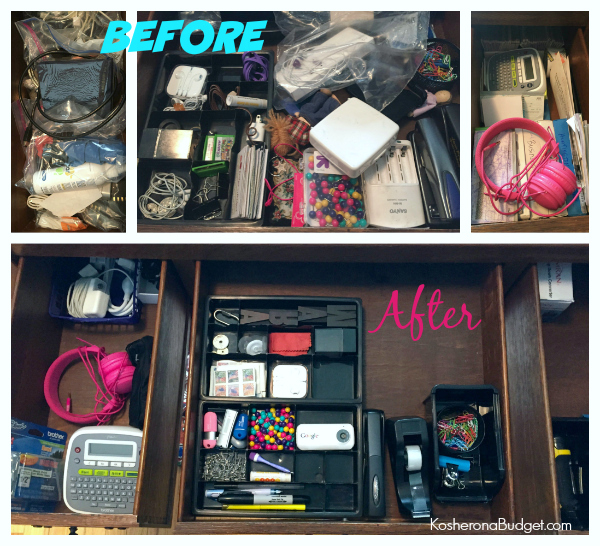Desk Drawer Before & After