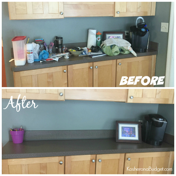 Kitchen Counter Declutter Before & After - Only Took 10 Minutes