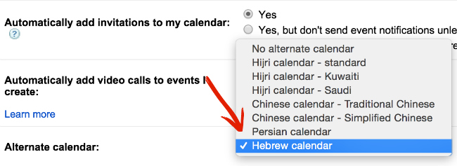 Hebrew Calendar Dates
