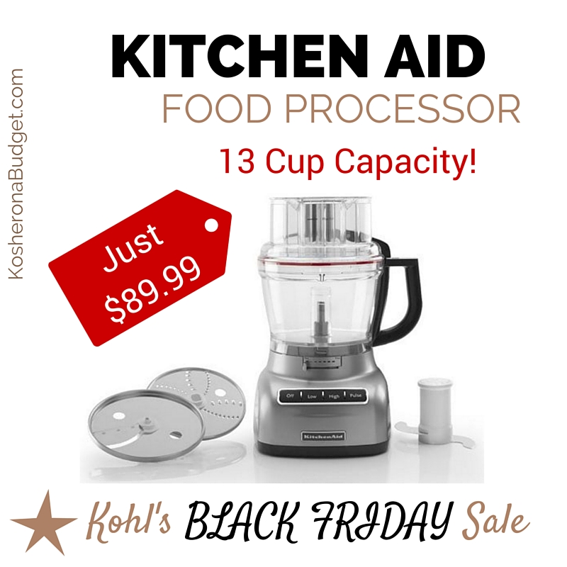 kohl 39 s black friday deal 13 cup kitchen aid food processor just earn 30 in kohl 39 s cash. Black Bedroom Furniture Sets. Home Design Ideas