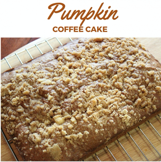 Easy Pumpkin Coffee Cake
