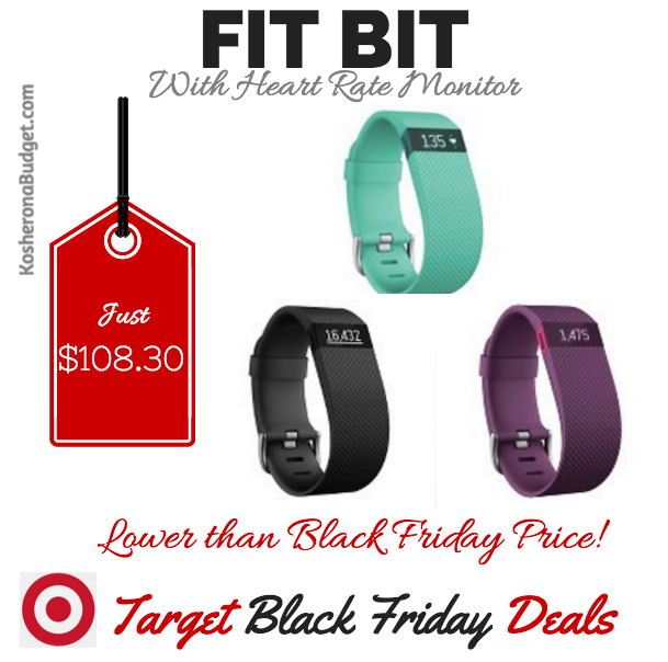 Best Black Friday Deal on FitBit with HeartRate Monitor