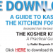 Download FREE Copy Guide to Kashering Your Kitchen for Pesach