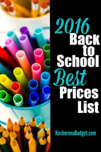 back to school price list