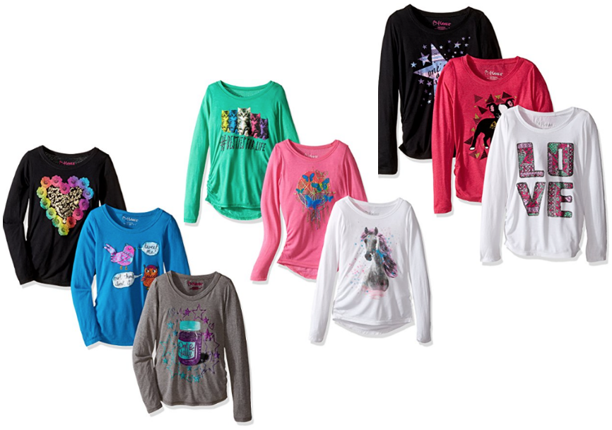 hanes-girls-long-sleeve-graphic-tee